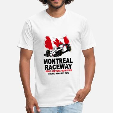 Formula Formula One - Formula 1 - Canada Flag - Fitted Cotton/Poly T-Shirt by Next Level