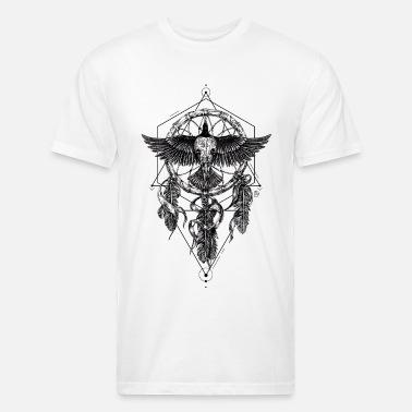 a2a0a0c3e AD Skull Crow Dreamcatcher Mystic Men s V-Neck T-Shirt