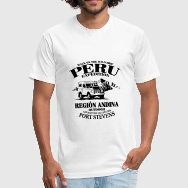 Peru - Fitted Cotton/Poly T-Shirt by Next Level