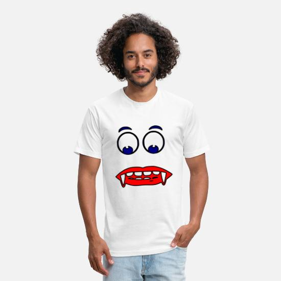 Love T-Shirts - face red blur - Unisex Poly Cotton T-Shirt white