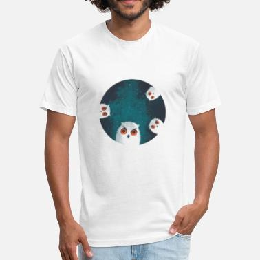 Mysterious Night Owls - Fitted Cotton/Poly T-Shirt by Next Level
