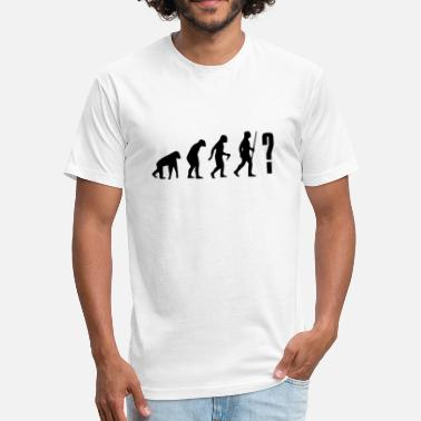 Evonation YOU NEVER KNOW WHERE THE EVOLUTION GOES! - Fitted Cotton/Poly T-Shirt by Next Level