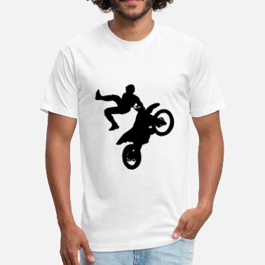 Supercross Freestyle Moto Cross - FMX - Supercross - SX - Fitted Cotton/Poly T-Shirt by Next Level