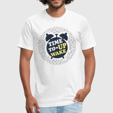 Wake up - Fitted Cotton/Poly T-Shirt by Next Level