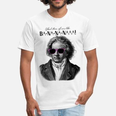 Ba-na-na-naaa! | Classical Music Rockstar - Fitted Cotton/Poly T-Shirt by Next Level