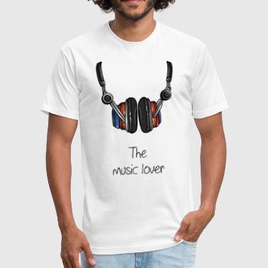 Music Lover The music lover - Fitted Cotton/Poly T-Shirt by Next Level