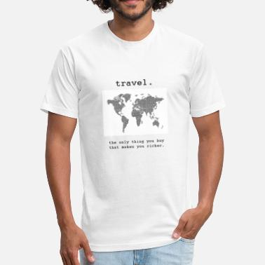 Traveler travel. - Fitted Cotton/Poly T-Shirt by Next Level
