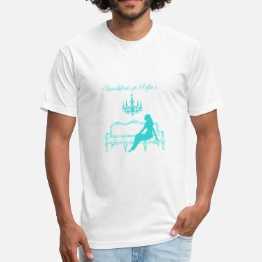Sofie Breakfast at Sofie's logo (tiffany blue) - Fitted Cotton/Poly T-Shirt by Next Level