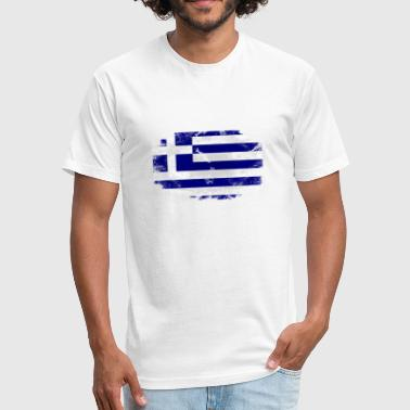 Greece Flag Greece Flag - Fitted Cotton/Poly T-Shirt by Next Level