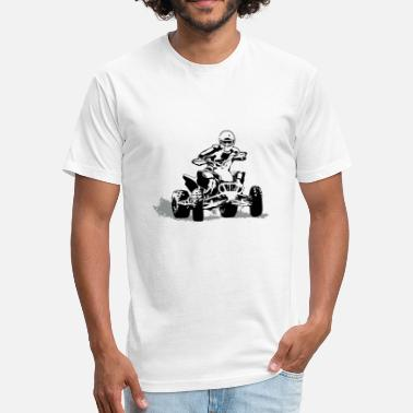 Quad Motocross ATV - Quad -  Motocross - Fitted Cotton/Poly T-Shirt by Next Level