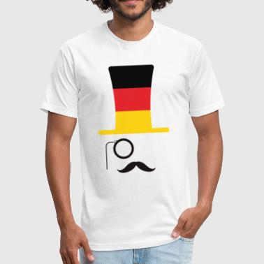 Flags Hipster German Flag Football hipster fan - Fitted Cotton/Poly T-Shirt by Next Level