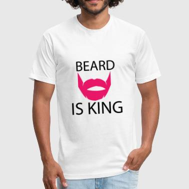 BEARD - Fitted Cotton/Poly T-Shirt by Next Level