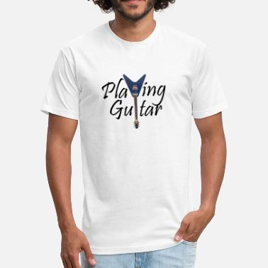 Playing Guitar Playing Guitar - Fitted Cotton/Poly T-Shirt by Next Level