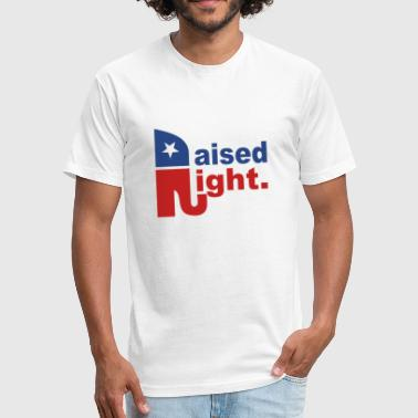 Raised Right Raise Right - Fitted Cotton/Poly T-Shirt by Next Level