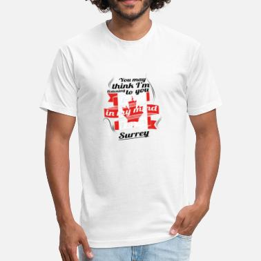 Surrey URLAUB HOME ROOTS TRAVEL Kanada Canada Surrey - Fitted Cotton/Poly T-Shirt by Next Level