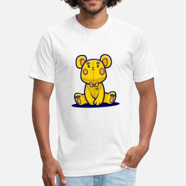 Yellow Bear Yellow Teddy Bear - Fitted Cotton/Poly T-Shirt by Next Level