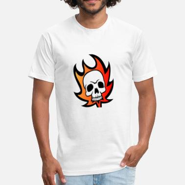 Skull On Fire Fire Skull - Fitted Cotton/Poly T-Shirt by Next Level