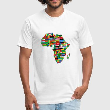Africa Map - Fitted Cotton/Poly T-Shirt by Next Level