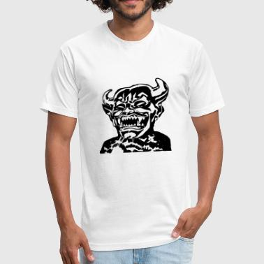 demon devil lucifer beelzebub - Fitted Cotton/Poly T-Shirt by Next Level