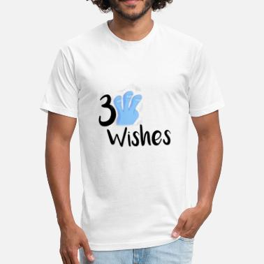 3 Wishes 3 Wishes Abstract Design. - Fitted Cotton/Poly T-Shirt by Next Level