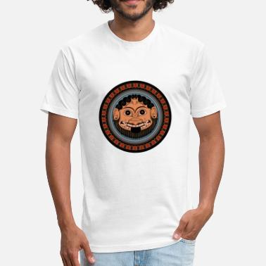 Ancient Greece Medusa Classical art from Ancient Greece - Fitted Cotton/Poly T-Shirt by Next Level