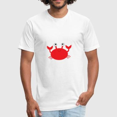 Mr Crab Happy Crab - Fitted Cotton/Poly T-Shirt by Next Level