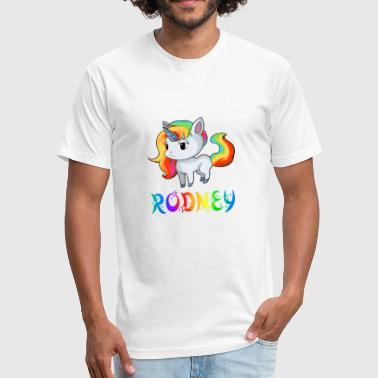 Rodney Unicorn - Fitted Cotton/Poly T-Shirt by Next Level
