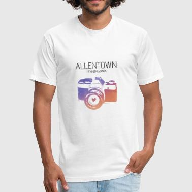 Camera Allentown - Fitted Cotton/Poly T-Shirt by Next Level