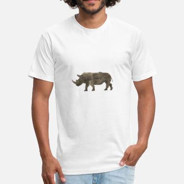 Jungle Apparel Silhouette Jungle Series Rhino - Fitted Cotton/Poly T-Shirt by Next Level