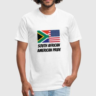 South African American Pride - Fitted Cotton/Poly T-Shirt by Next Level