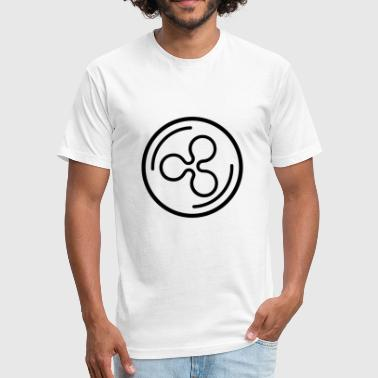 Ripple XRP - Fitted Cotton/Poly T-Shirt by Next Level