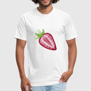 Fruits Strawberry Strawberry Fruit - Fitted Cotton/Poly T-Shirt by Next Level