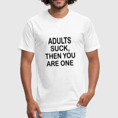 Winter Sucks Adults Suck - Fitted Cotton/Poly T-Shirt by Next Level