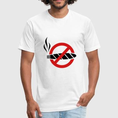 Prohibitory Sign No smoking - cigar - Fitted Cotton/Poly T-Shirt by Next Level
