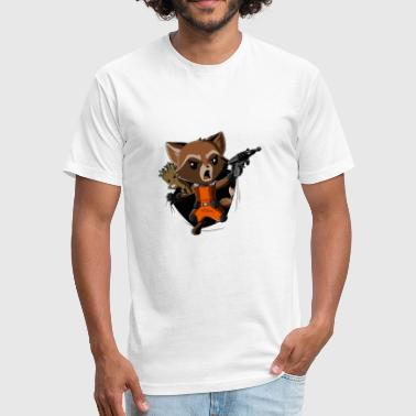 Rocket Raccoon Breakthrough - Fitted Cotton/Poly T-Shirt by Next Level