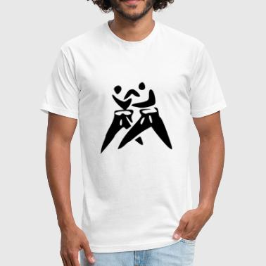 karate martial arts thai boxing ninja kickboxing9 - Fitted Cotton/Poly T-Shirt by Next Level