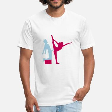 69 Sex Position Yoga figure fitness splits sexy girl female hot cu - Fitted Cotton/Poly T-Shirt by Next Level