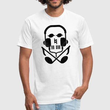 Earphone Jokes skull earphones - Fitted Cotton/Poly T-Shirt by Next Level