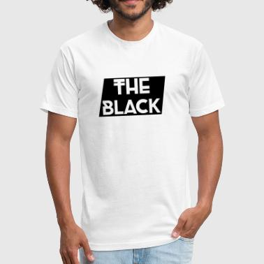 The Black Logo [Black Supreme Look] - Fitted Cotton/Poly T-Shirt by Next Level