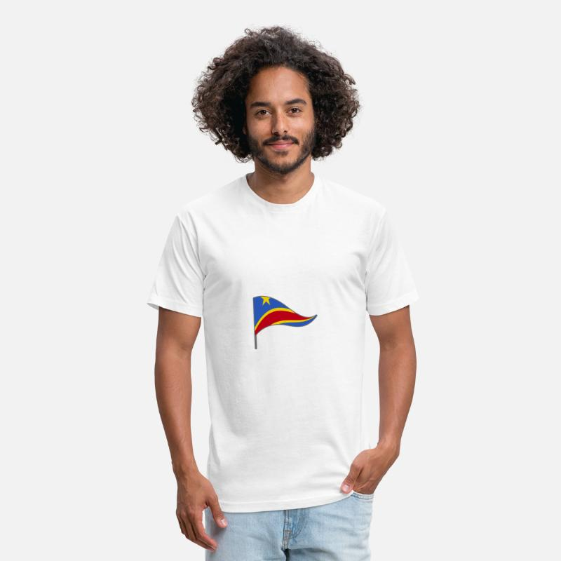 Country T-Shirts - Congo Africa Flag Banner Flags Ensigns - Unisex Poly Cotton T-Shirt white