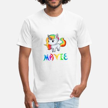 Mavis Mavie Unicorn - Fitted Cotton/Poly T-Shirt by Next Level