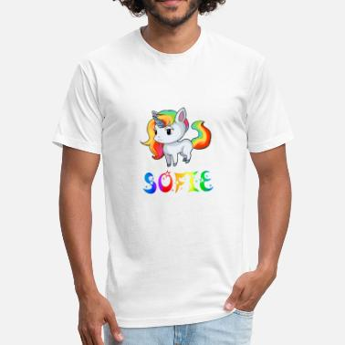 Sofie Sofie Unicorn - Fitted Cotton/Poly T-Shirt by Next Level