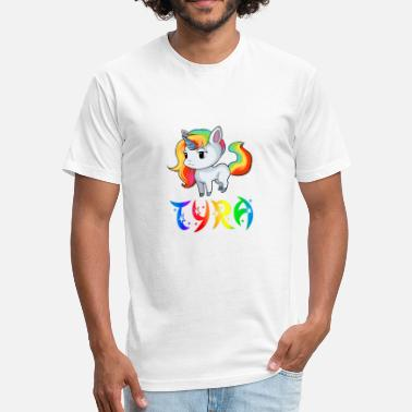 Tyra Tyra Unicorn - Fitted Cotton/Poly T-Shirt by Next Level