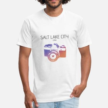 Salt Lake Camera Salt Lake City - Fitted Cotton/Poly T-Shirt by Next Level