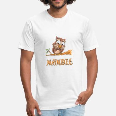 Mandy Mandie Owl - Fitted Cotton/Poly T-Shirt by Next Level