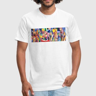 contemporary art - Fitted Cotton/Poly T-Shirt by Next Level