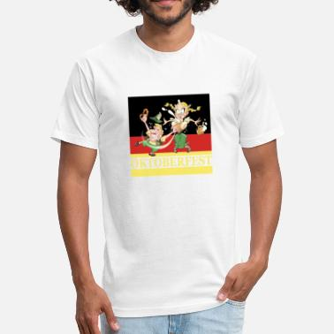 Oktoberfest German flag - Fitted Cotton/Poly T-Shirt by Next Level