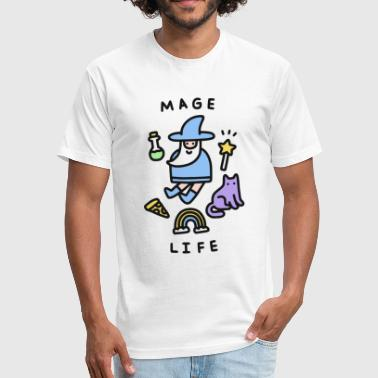 Mage Life - Fitted Cotton/Poly T-Shirt by Next Level