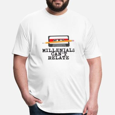 Millennials cassette days - Fitted Cotton/Poly T-Shirt by Next Level