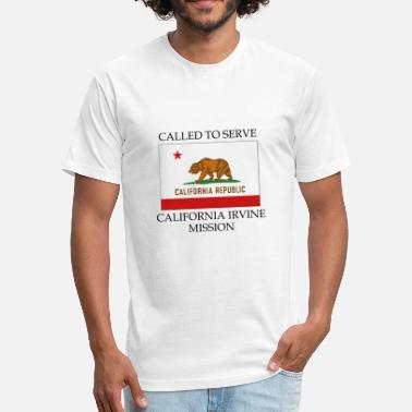 Irvine California Irvine Mission Called to Serve Flag - Fitted Cotton/Poly T-Shirt by Next Level